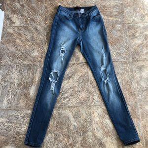 Denim - High waist skinny jeans